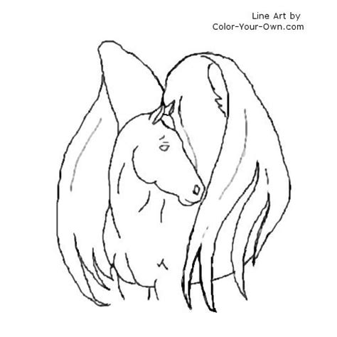 winged horse coloring page how to draw winged horse