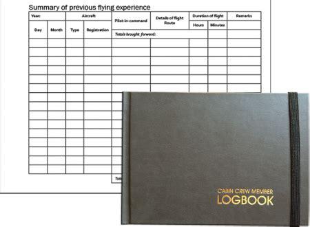 cabin crew book logbook pilots paper logbook aviation direct