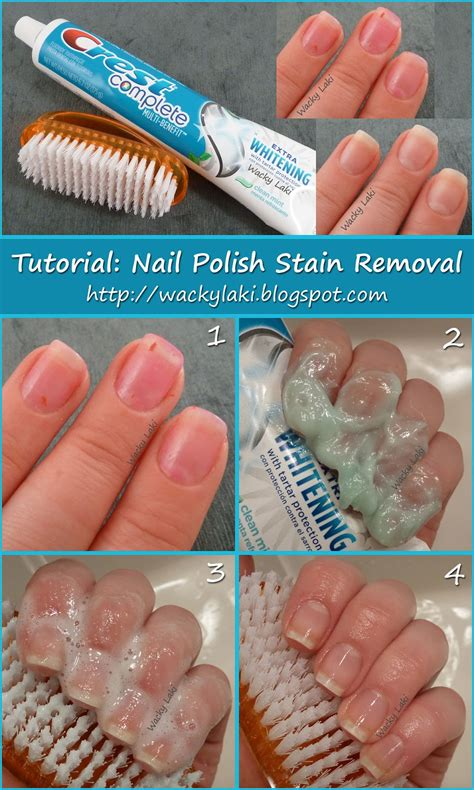 How To Remove Fingernail From by Wacky Laki Tutorial Tuesday Nail Stain Removal