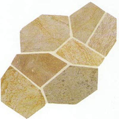 Daltile Slate Collection   Patterned Flagstone Golden Sun
