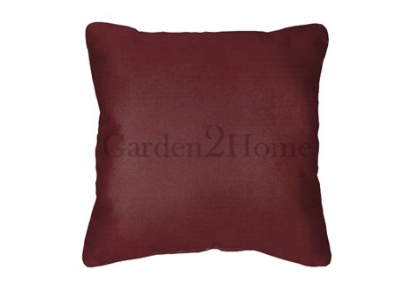 Canvas Pillows by Throw Pillow In Sunbrella Canvas Burgundy 5436