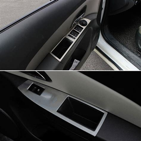 Interior Door Covers Interior Door Window Button Handle Panel Armrest Trim Cover For Cruze 09 2015 Ebay