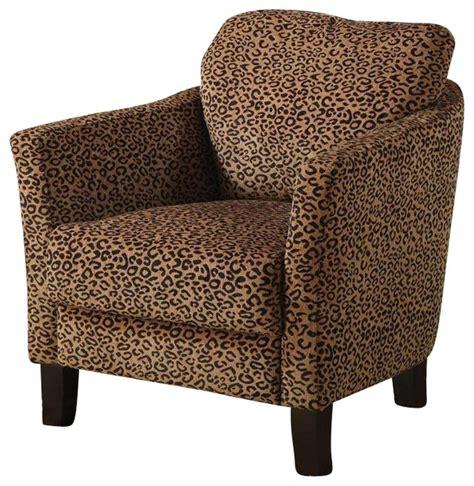 coaster club chair  cheetah print transitional armchairs accent chairs