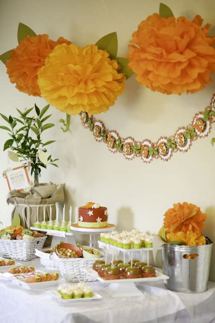Orange Baby Shower Themes by I Pears Orange Baby Shower Inspirations