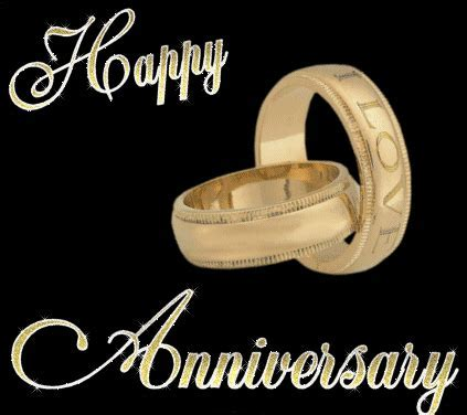 happy anniversary wedding rings   Anniversary graphics for