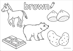 brown coloring pages preschool colors resources maple leaf learning library