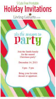 Free printable diy holiday party invitations customize and print
