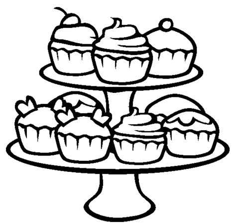 coloring pages cupcakes print cupcake printable coloring pages coloring home