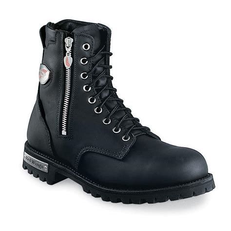 mens biker boots sale s wing 174 979 motorcycle boots black 49311