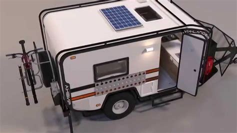 Pop Up Trailer With Shower And Toilet by Mini Off Road Camper Youtube