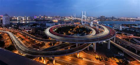 nanpu bridge interchange interchange in shanghai