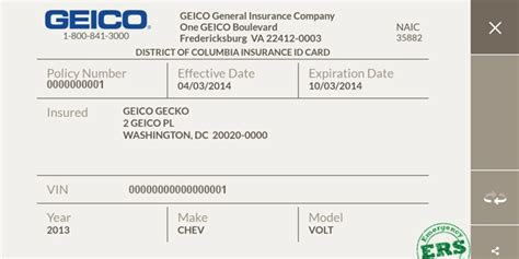 geico insurance card template insurance cards templates resume builder