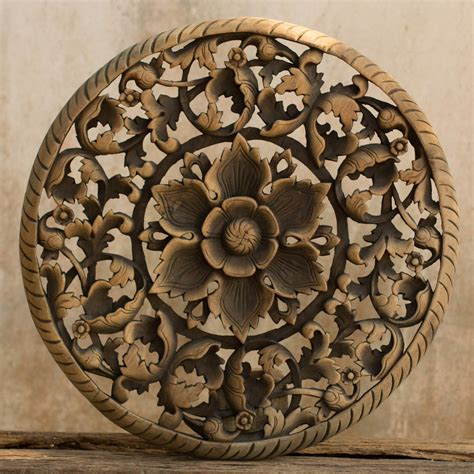 buy tree dimensional floral wooden wall hanging