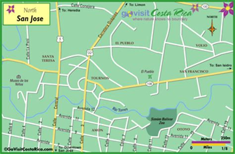 san jose costa rica neighborhoods map san jose san jose go visit costa rica
