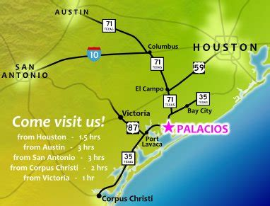 palacios texas map palacios a beautiful coastal community lodging business tourism info