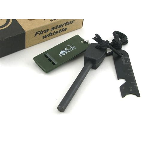 Outdoor Survival Magnesium Flint With Whistle outdoor survival magnesium flint with whistle black jakartanotebook