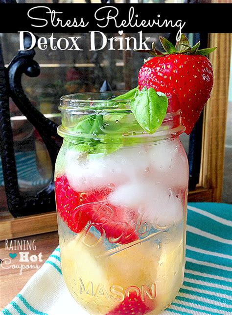 Pineapple And Strawberry Detox Water by Stress Relieving Detox Drink