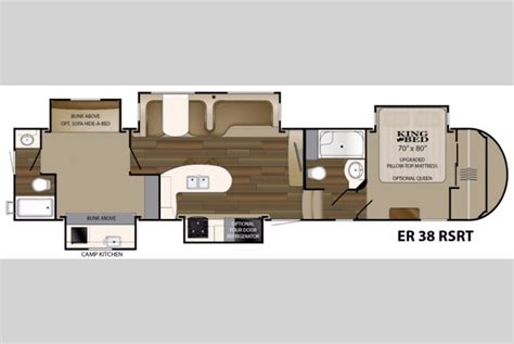 5th wheel rv floor plans heartland elkridge fifth wheels multiple bunkhouse models