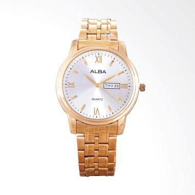 Jam Tangan Pria Alba White Black jual jam tangan alba gold pria harga promo