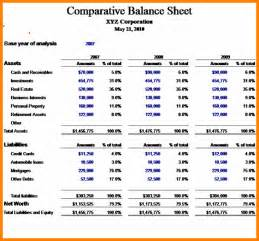 8 comparative balance sheet weekly agenda planner