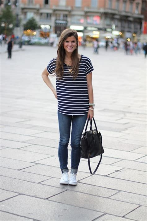 Gap Stripe Simple T Shirt one more from milan a few snaps from nyfw brightontheday