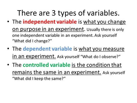 design of experiment 3 variables preparing for the science fair ppt video online download