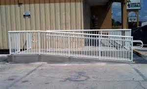 Handicap Ramp Handrails Commercial Railing Decorative Art Deco Glass Handicap Fdot