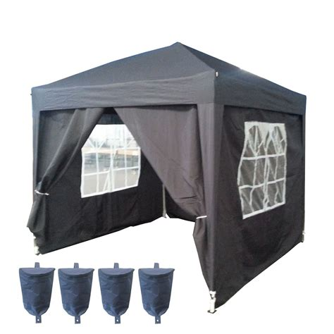 pavillon 2 5x2 5 pop up gazebo impermeabile 2 5 x 2 5m pieghevole supporto