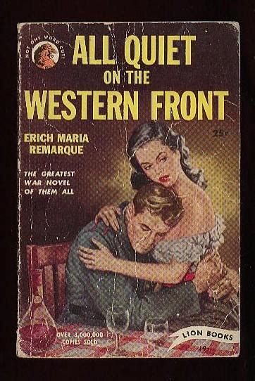 all on the western front book report trench literature reading in world war i abebooks