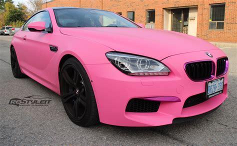 matte pink porsche matte pink bmw f13 m6 is fit for a princess autoevolution