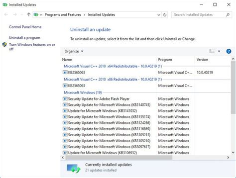 how to correctly uninstall updates in windows woshubcom windows update not working on windows 10 fix
