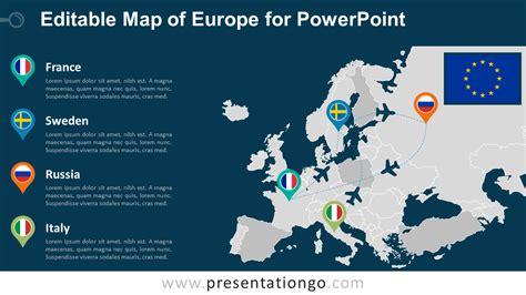 Europe Editable Powerpoint Map Presentationgo Com Free Editable Powerpoint Maps