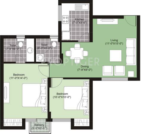 975 Sq Ft 2 Bhk 2t Apartment For Sale In Unitech Uniworld 975 Sq Ft 2 Bhk 2t Apartment For Sale In Charms India