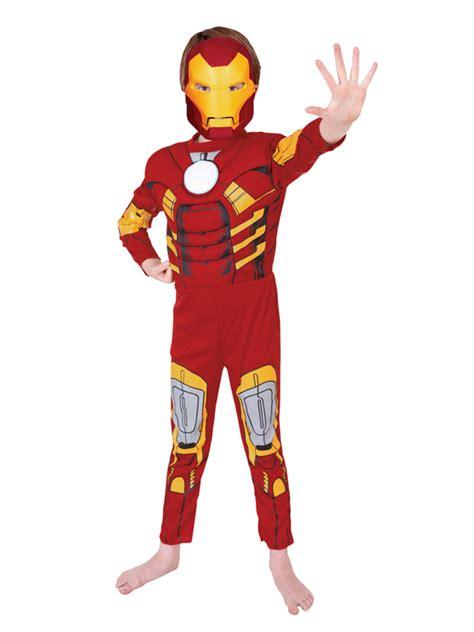 child licensed iron man deluxe fancy dress costume kids