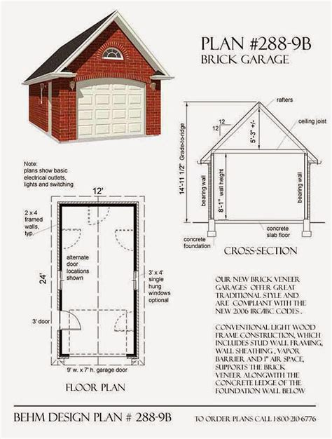 brick garage plans garage plans blog behm design garage plan exles