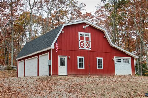 Gambrel Garage | patriot gambrel style 1 189 story garage the barn yard