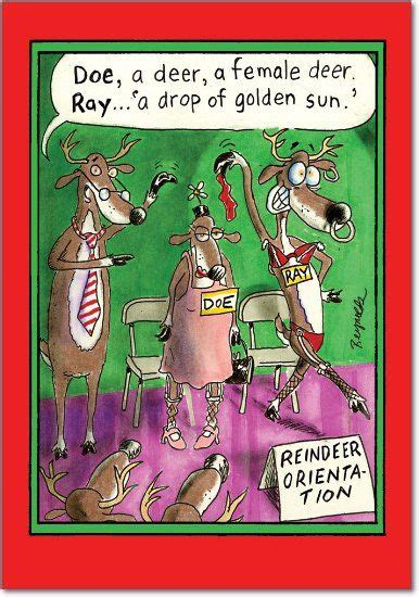 amazon com reindeer orientation christmas joke card