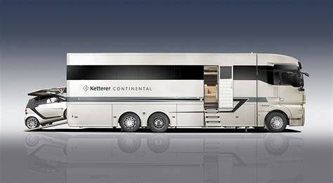Rv Garage With Living Space Ketterer Continental Motorhome Hiconsumption