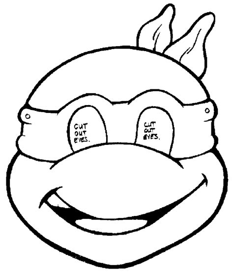 pattern for ninja turtle face ninja turtle outline clipart best