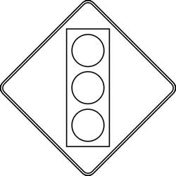 Road Sign Outlines by Signal Ahead Outline Clipart Etc