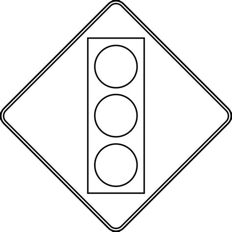 free coloring pages of road safety signs