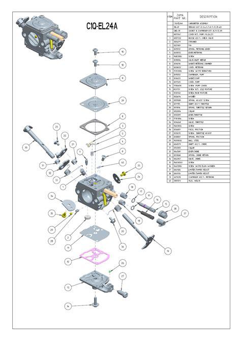 zama c1q carb diagram c1q el24 zama carburetor for husqvarna 123 223 323 325
