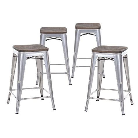 tolix bar stools for sale buschman set of four gray wooden seat 24 inches counter