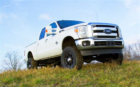 Ford F250 Lifted by The Gallery For Gt Lifted White F250