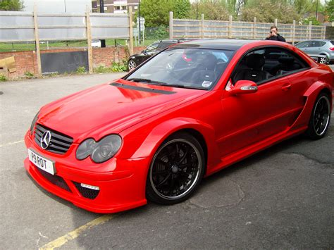 wrapped cars mercedes clk dtm replica wrapped in red gloss