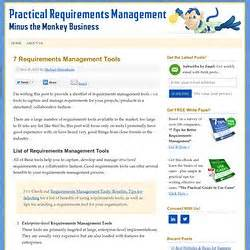 list of requirements management tools the making of tools pearltrees