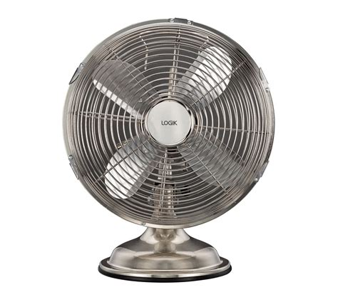 buy logik l10dfss15 10 quot desk fan brushed steel free