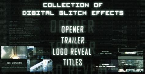 after effects countdown title card template digital glitch countdown and titles technology after