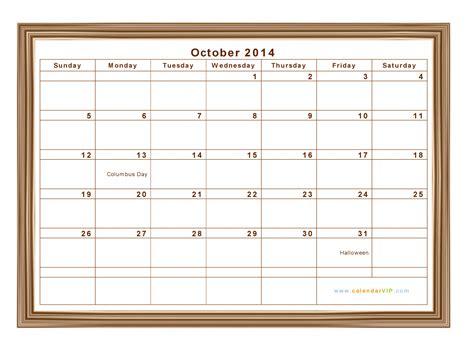 Calendar For October 2014 October 2014 Calendar Blank Printable Calendar Template