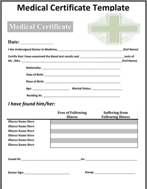 med card template image gallery sle